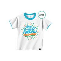 Kaos Anak AF190 Love & Follow Rasulullah Peace &..by Afra Kids Size L
