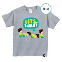 Kaos Anak AF165 Let's Shalat by Afra Kids Size XL
