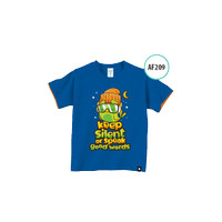 Kaos Anak AF209 Keep silent or speak good works by Afra Kids Size XL