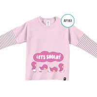Kaos Anak AF183 Let's Shalat by Afra Kids Size M