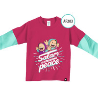 Kaos Anak AF203 Salam is Spreading Peace by Afra Kids Size M