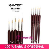 V-Tec Brush VT-016 Set 5 / Kuas Lukis Set 5 / Kuas V-Tec