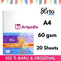 Arto A4 Tracing Paper 60gsm - 20 Sheets / Kertas Kalkir