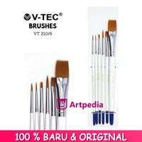 V-Tec Brush VT-210 Set 6 / Kuas Lukis Set 6 / Kuas V-Tec