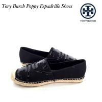 Sepatu Tory Burch Poppy Espadrilles black