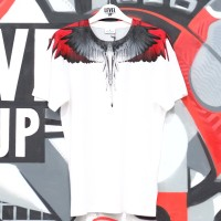 Marcelo Burlon White Red Wings Tee 100% Authentic