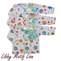 Last Stock Libby 3 Pcs Baju Panjang Motif Lion sz 0-3m