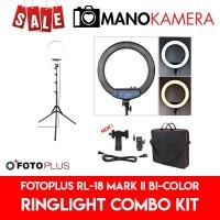 Fotoplus RL-18 Mark II Bi-Color Ring Light Combo Kit Beauty Vlogger