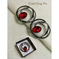 crystal hoop pin (bross jilbab)