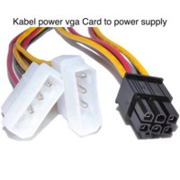 kabel power vga 6 pin / ADAPTER Kabel 2 MOLEX TO 6 PIN