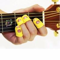 Pik Jari Silikon Pelindung Petik Gitar / Silicone Finger Pick