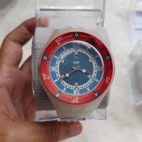 jam tangan swatch scuba merah original