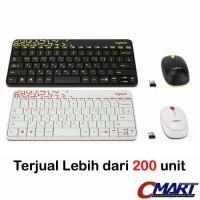 Logitech MK240 NANO Colorful Wireless Combo Mouse & Keyboard - Putih