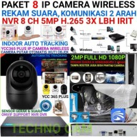 Paket CCTV 8 Ip Camera Wireless + DVR NVR 1080p Cctv Outdoor Indoor