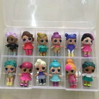 Kotak Box Sekat 12 Boneka LOL Dolls Benang Jahit Aksesoris Diecast
