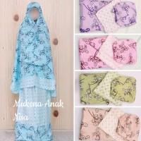 Mukena Anak Rayon Super no 1 motif Polka dan Batik