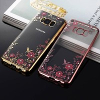 Luxury Soft Case Flower for SAMSUNG GALAXY S8 | Cover Diamond Bunga