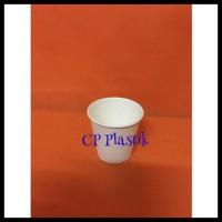 BIG SALE Paper Cup   Gelas Kertas Polos Uk. 2,5 oz (isi +/- 50 pcs)