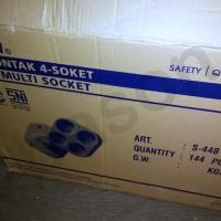 NEW UTICON Stop Kontak 4 in 1 Socket - S448NA Berkualitas