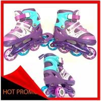 Sepatu Roda Anak Inline Skate Kids Ban Karet LED PVC Power Aosite 600