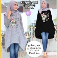 baju tunik/atasan tunik/baju muslim/atasan muslim/pinguin owl/gl52433