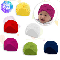 Topi Bayi Warna Polos / Turban Baby Girl Color