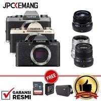 Harga fujifilm x t100 xt100 kit 35mm f 2 black xf 50mm f 2 garansi | Pembandingharga.com