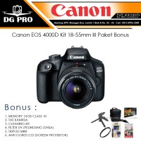 Canon EOS 4000D Kit 18-55mm III Paket Bonus - Camera DSLR EOS 4000D