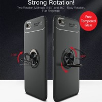 Oppo F3 plus iRing Invisible TPU Soft Case-Free tempered glass
