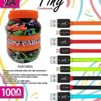 JETE Kabel Toples Micro 100Cm Kabel Charger Jete Tiny Isi 45pcs