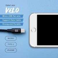 JETE Kabel Data Kabel Charger Iphone 5 6 7 2.4A 100Cm Kabel Jete