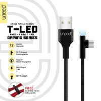 UNEED T-LED Kabel Data Type C QC 3.0 Fast Charging Max 2.4A - UCB33C