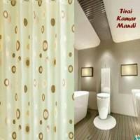 tirai kamar mandi /shower curtain plastik dengan pengait