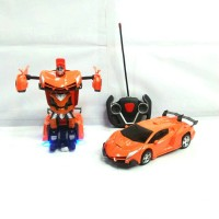 Rc transform 1:18 / mobil remot jadi robot / mainan anak laki laki