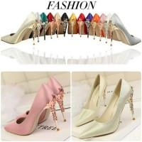 BS-136 (13 warna) Sepatu hak tinggi heels wedding shoes sepatu pesta