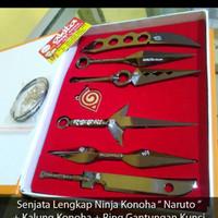 Harga kunai minato anime naruto 1 set lengkap plus kalung konoha plus ring | Pembandingharga.com