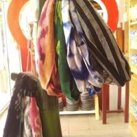 Bandana ikat hiasan kepala tenun lucu asli jogja katun lurik cantik