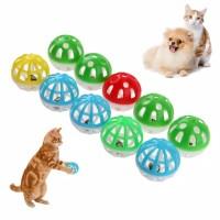 Bola pelastik isi lonceng mainan kucing