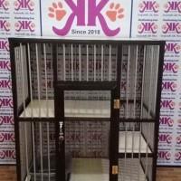 Kandang Kucing Alumunium Tipe KKC-02M Hitam (2 Lantai Minimalis)