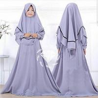 Rebecca Kids/Gamis full Moscrepe/Gamis Anak/Baju Muslim Anak
