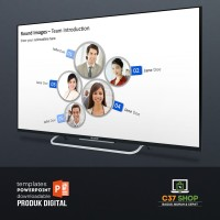 Template PowerPoint ROUND IMAGES TEAM INTRO | PresentationLoad