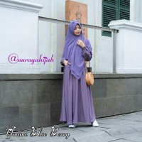 YOANA DRESS BLUE BERRY BY URFIMUTIYARO DRESS ONLY GAMIS POLOS ungu