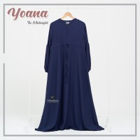YOANA DRESS MIDNIGHT BY URFIMUTIYARO DRESS ONLY GAMIS POLOS Navy