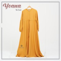 YOANA DRESS GOLD BY URFIMUTIYARO DRESS ONLY GAMIS POLOS