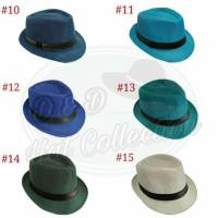 37fb720bd1146 Topi Fedora Knitted Straw Polos Dewasa Impor