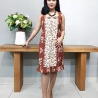 Dress Batik Katun Tulis Lasem Brand Batik Muda - Kode BAAD2515