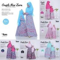 Gamis New Zara Couple Mom Kids Free Khimar Original Byas - Merah Muda, Moms