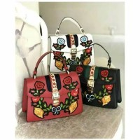 732d67912e7c1a new Tas Fashion Gucci Sylvie Floral Embroidery Shoulder Bag Import