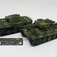 1/144 Tank Tiger I H & Panther G Bicolor field camouflage [airbrushed]