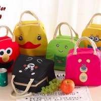 Lunch Cooler Bag Box Tas Bekal Makanan Anak Bayi Karakter Minion Elmo